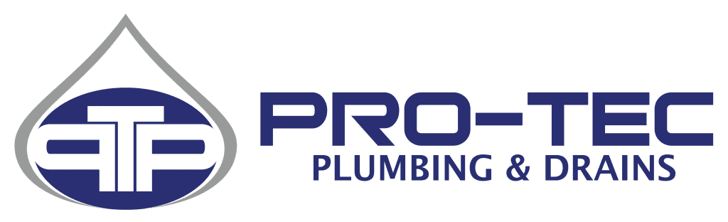 Pro-Tec Plumbing & Drains with grey water drop and PTP initials for website