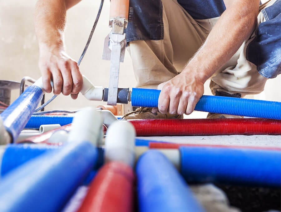 Expert plumber conducts an annual inspection for Pro-Tec Plumbing & Drains clients with the Pro-Tec Premier Maintenance Plan.