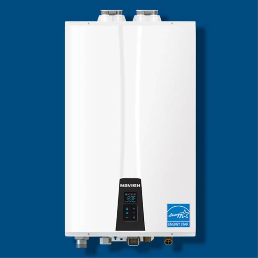 This tankless water heater by Navien is one of many options provided by Pro-Tec Plumbing & Drains.
