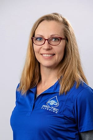 Headshot of Pro-Tec Plumbing employee and administrative assistant Tammy W.